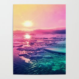 Pastel Sunset Waters Poster