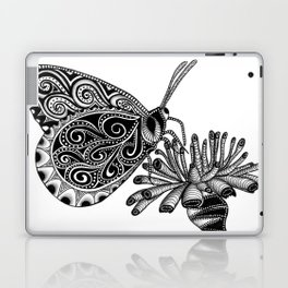Tangled Butterfly on White Laptop & iPad Skin