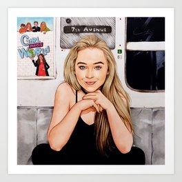 Sabrina Carpenter - Thumbs Art Print