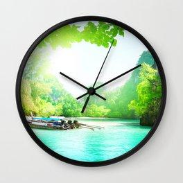 Between  Sea Wall Clock