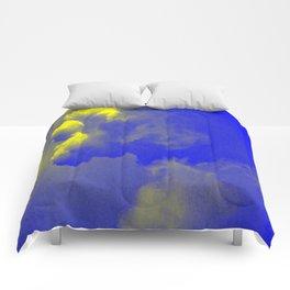 Sky yellow blue Comforters