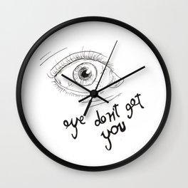 eyes don't lie 01 Wall Clock