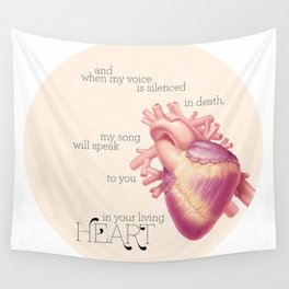 And when my voice is silenced in death... Wall Tapestry