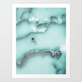 Relaxing in Tuscany Natural Hot Springs, Italy Art Print