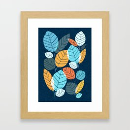 Contemporary Leaf Print Framed Art Print