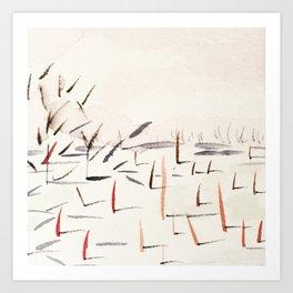Sticks and Shadows on the North Thompson Art Print
