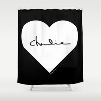 charlie Shower Curtains featuring Charlie by ♥ Charlie