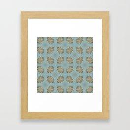 Soft Teal Blue & Gold No. 6 Framed Art Print