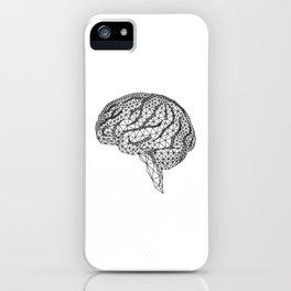 geometric human brain iPhone Case