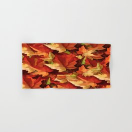 Autumn Leaves Abstract - Painterly Hand & Bath Towel