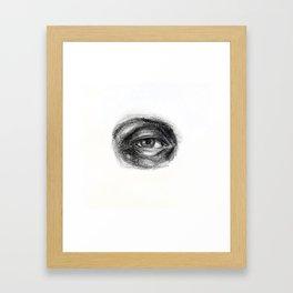 Eye study sketch 1 Framed Art Print