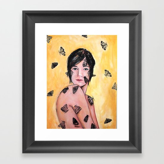 Attraction/Repulsion {Moths} Framed Art Print