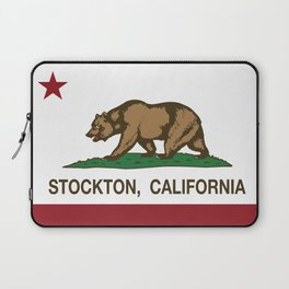 Stockton California Republic Flag Laptop Sleeve