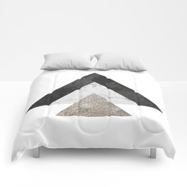 Monochrome Collage Comforters
