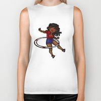 rockabilly Biker Tanks featuring Rockabilly Hula Hoop Girl by roryseviltwin