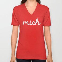 Mich (on dark) Unisex V-Neck