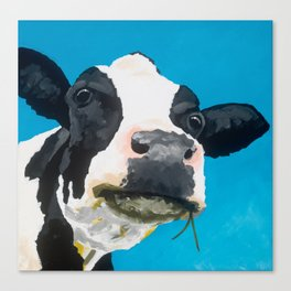 Margot the Relaxed Cow Canvas Print