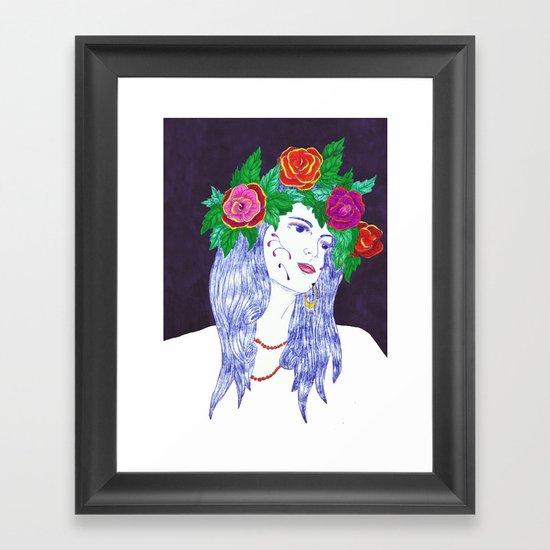 Girl in Dream Framed Art Print