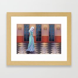 The lonely maiden Framed Art Print