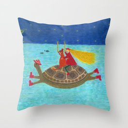 Ozzi and Lulu Snorkelling Throw Pillow