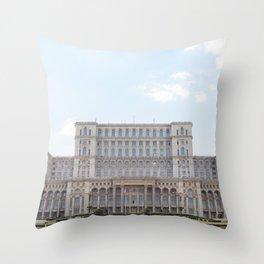Roumania, Parliament Bucharest Throw Pillow