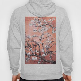 Van Gogh Almond Blossoms : Deep Peach Hoody