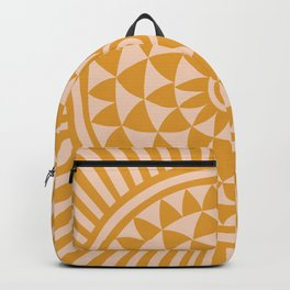 Geometric Yellow Sun  Backpack