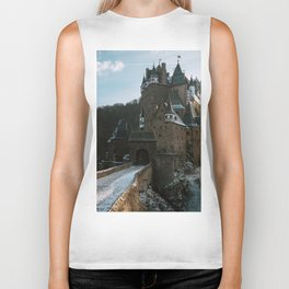 Fairytale Castle in a winter forest in Germany - Landscape and Architecture Biker Tank
