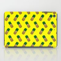 pineapples iPad Cases featuring Pineapples by Ella Lama