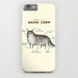 Anatomy of a Maine Coon iPhone Case