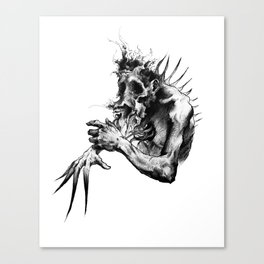 Pain Distortion Canvas Print