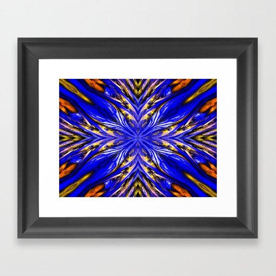 Blue Starburst Framed Art Print