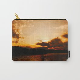 Foys Lake Montana at Sunset, Water Reflection, Neutral Colors Carry-All Pouch