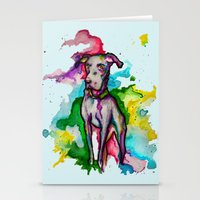 the hound Stationery Cards featuring Hound by AlysIndigo