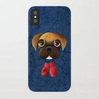 boxer iPhone & iPod Cases featuring Boxer by Sloe Illustrations