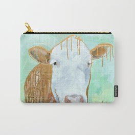 Cow in Gold Carry-All Pouch