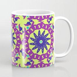 Chained Link Purple Spiral Flowers Coffee Mug