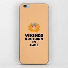 Vikings are born in June T-Shirt Dni2i iPhone Skin