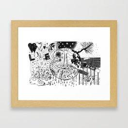 LOVE or FEAR Framed Art Print