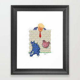 Donald Trump's Wall Framed Art Print