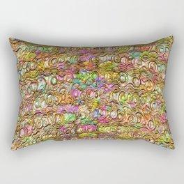 Coloured Gold Twirls embossed Rectangular Pillow