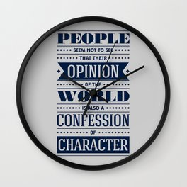 Lab No. 4 People Seem Not to Ralph Waldo Emerson Inspirational Quote Wall Clock