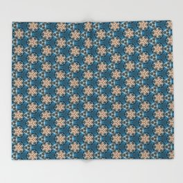 Snapdragon Synapse - Organic Abstract Pattern Throw Blanket