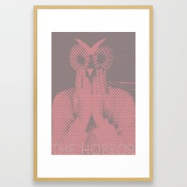 The Horror Owl Framed Art Print