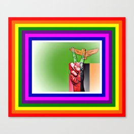Zambia World Peace Flag Canvas Print