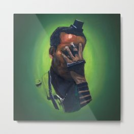 Untitled (soldier, green) Metal Print