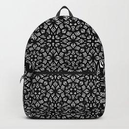 Black and White Mandala Pattern Backpack