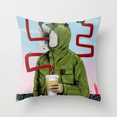 Caffeine Boost Throw Pillow