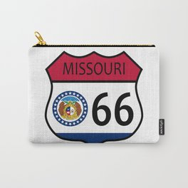 Route 66 Missouri Sign and Flag Carry-All Pouch