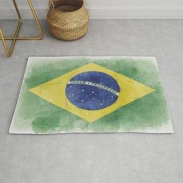 Brazil in Grunge Rug